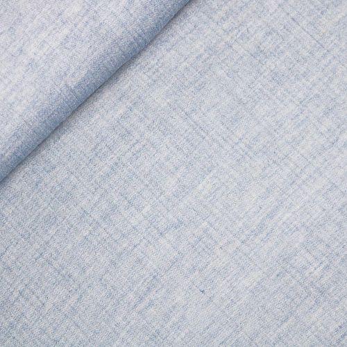 Musselin - Double Gauze - melange - blau