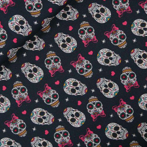Baumwolle - Rockabilly Skulls
