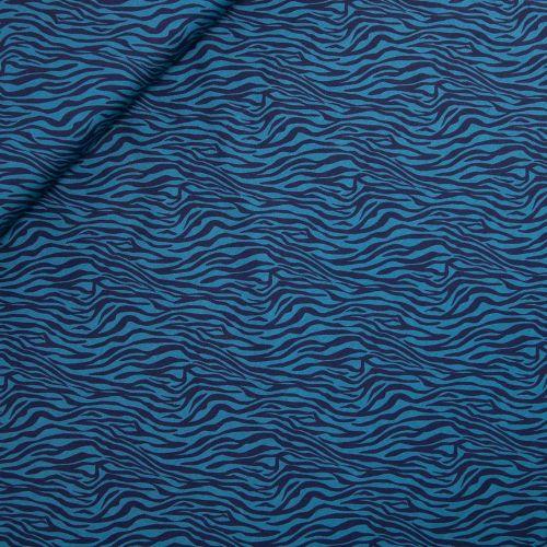 Baumwolljersey - Sauvage-Safari - blau