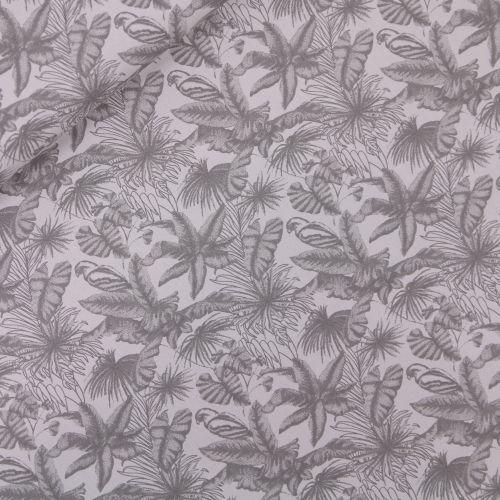 Baumwolle - Blättervielfalt - hellgrau