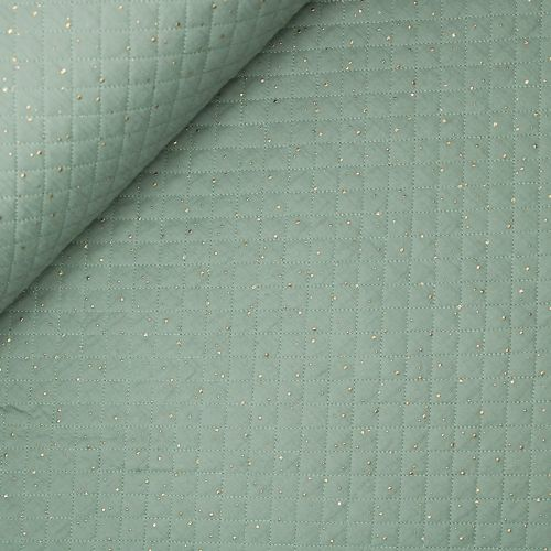 Musselin - Stepper - Spots - grün