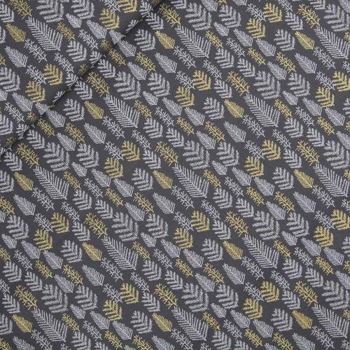 Baumwolle - Weihnachten - Tannenzweige - grau