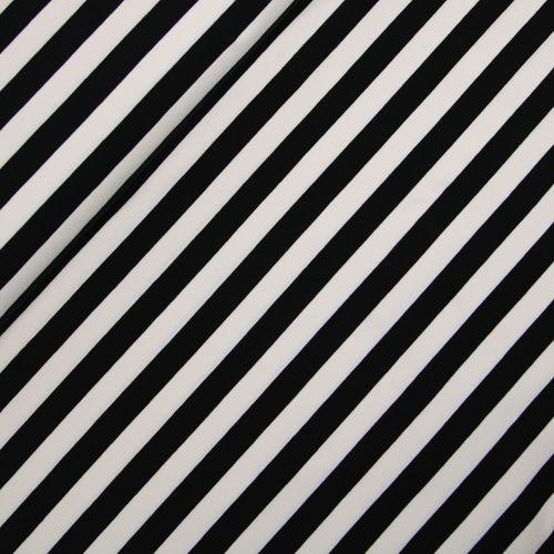 Baumwolljersey - Streifen - creme-schwarz