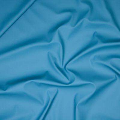 Regenjackenstoff - uni - taubenblau