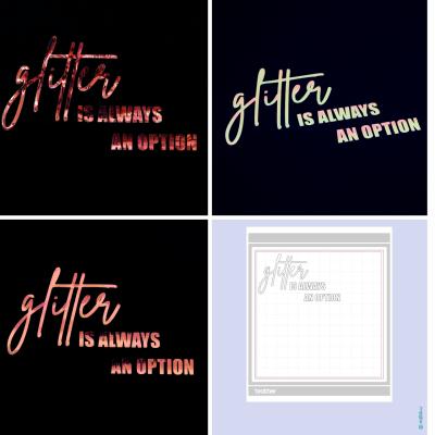 Freebie - Glitter is always an option - Brother Plotterdatei