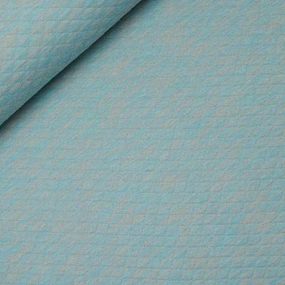 Gewebter Stepper - Jersey - meliert - blau