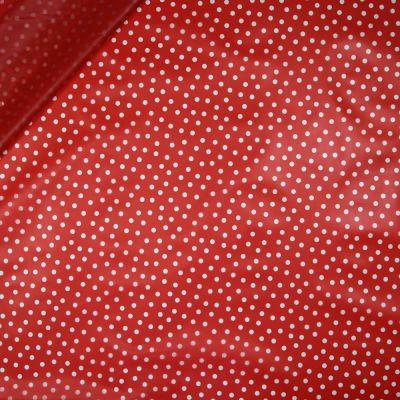 Regenjackenstoff - transparent - Dots - rot