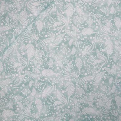 Baumwolle - Baby Boom - Blätter - türkisgrün