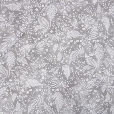 Baumwolle - Baby Boom - Blätter - grau