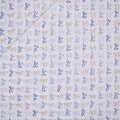 Baumwolle - Baby Boom - Pferde - blau