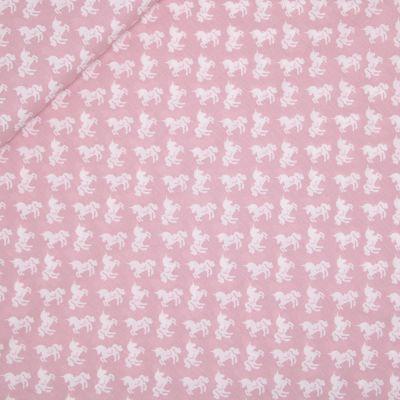 Baumwolle - Baby Boom - Pferde - rosa