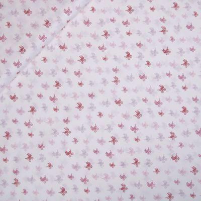Baumwolle - Baby Boom - Kinderwagen - rose