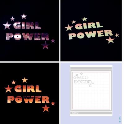 Freebie - Girl Power - Brother Plotterdatei