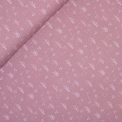Baumwolljersey - Vintage Blätter - rosa
