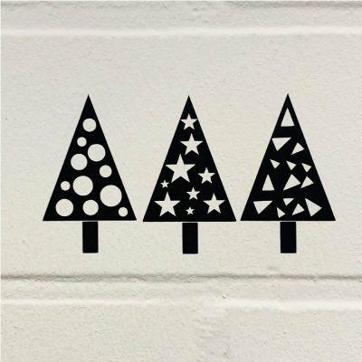 Freebie - Weihnachtsbäume - Brother Plotterdatei
